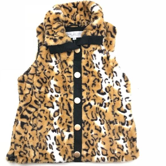 ce12ec259fdd Andrew Marc Jackets & Blazers - Marc New York Animal Print Faux Fur Vest C7